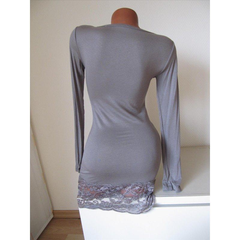 long tunika kleid shirt top unterkleid verl ngerung spitze. Black Bedroom Furniture Sets. Home Design Ideas