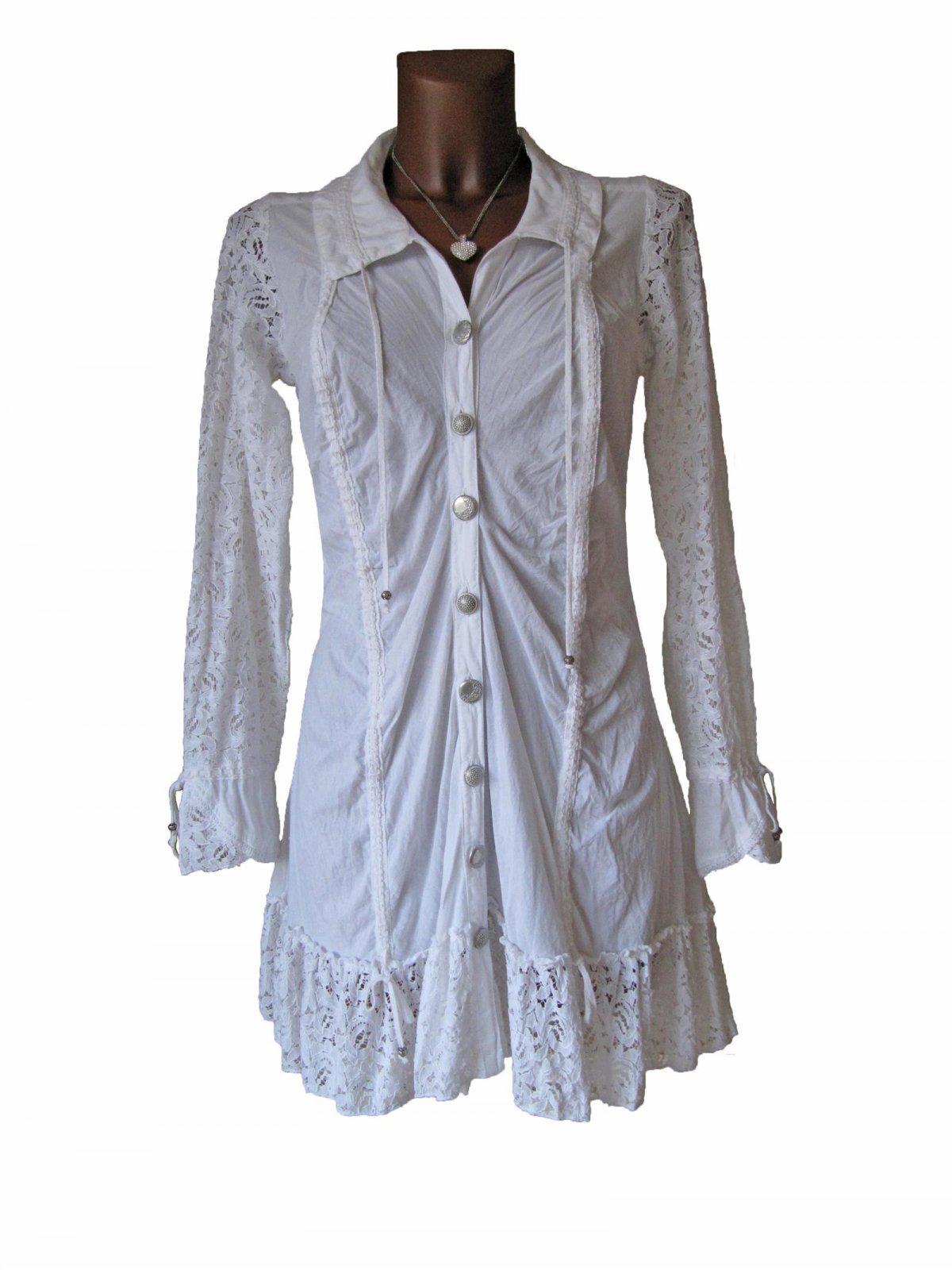 Kleid mit spitze langarm