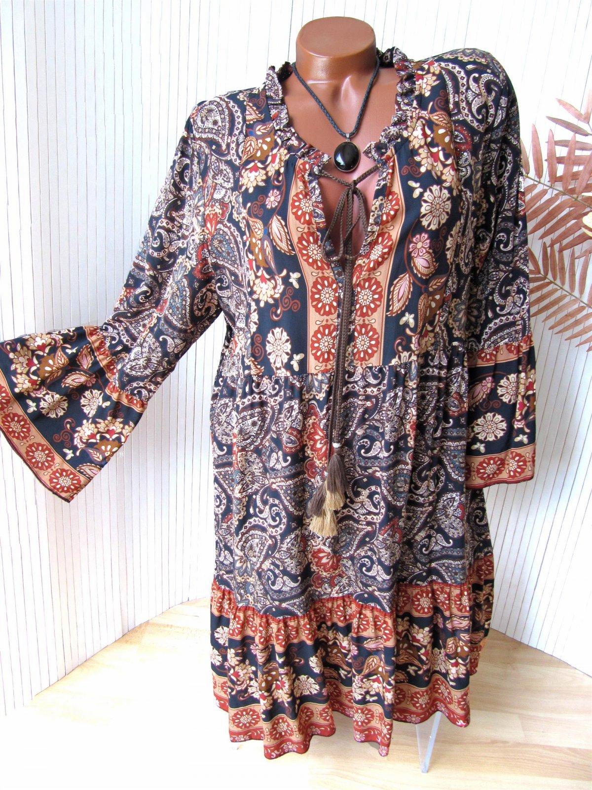 Ibiza Boho Hippie Kleid Hängerchen Tunika Paisley 9 9 9 9 br