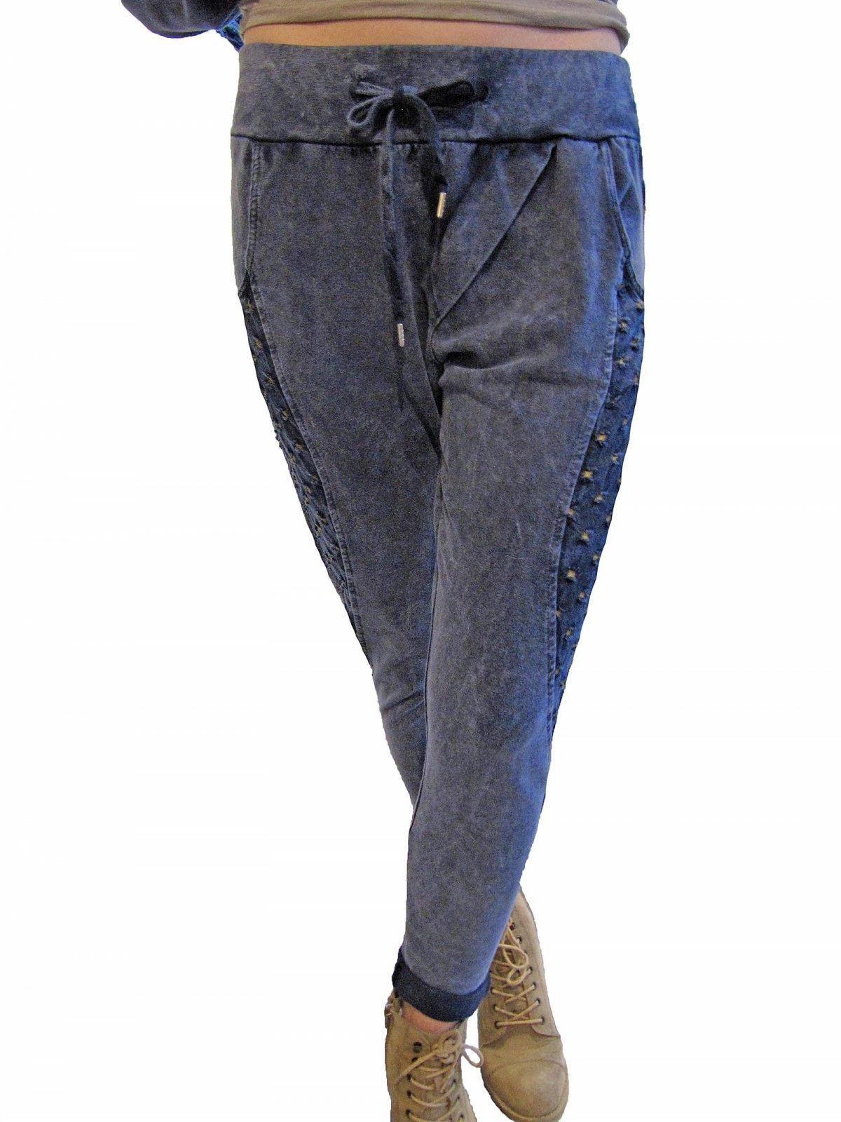 Kostenloser Versand Geschäft unschlagbarer Preis Stylische Jogginghose Jogpant Boyfriend Hose Fransen Baumwolle 36 38 40