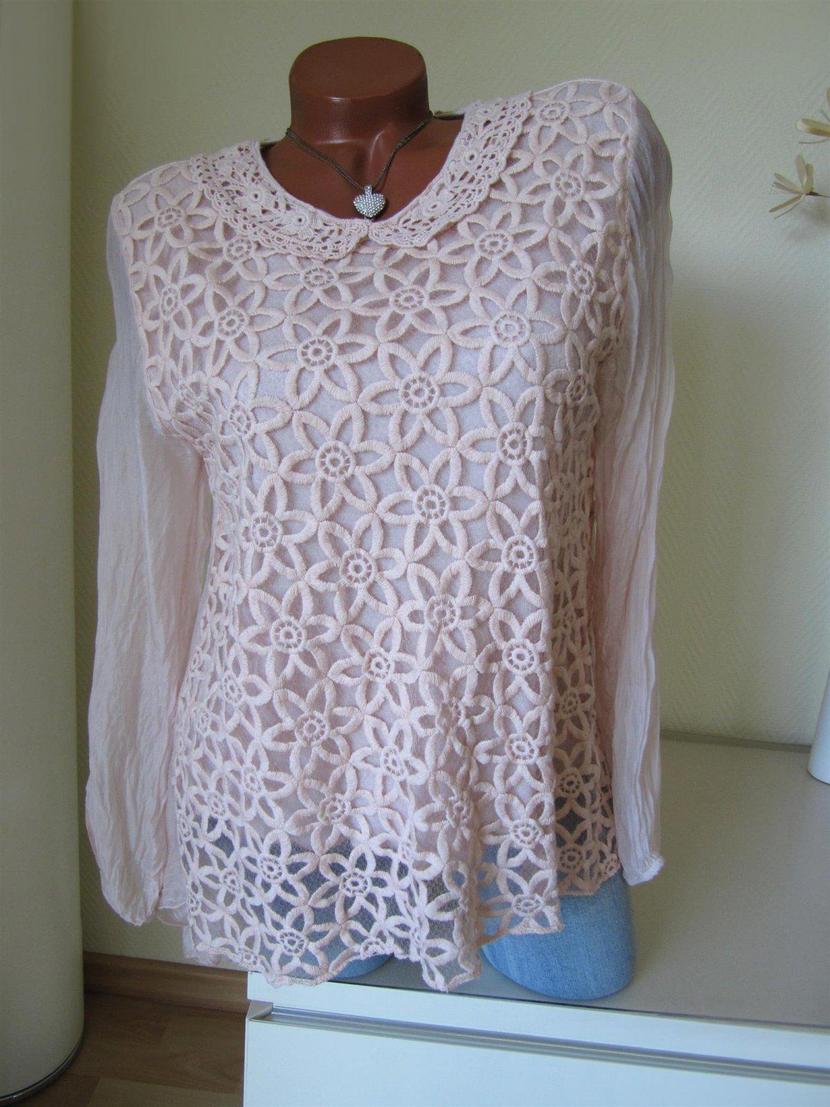 s e tunika bluse kragen h kel spitze hinten l n. Black Bedroom Furniture Sets. Home Design Ideas