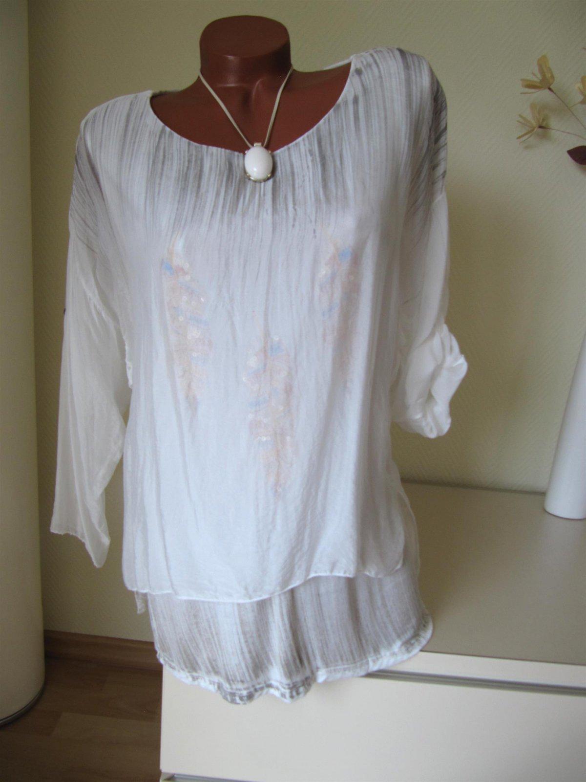 Tunika kleid mit pailletten