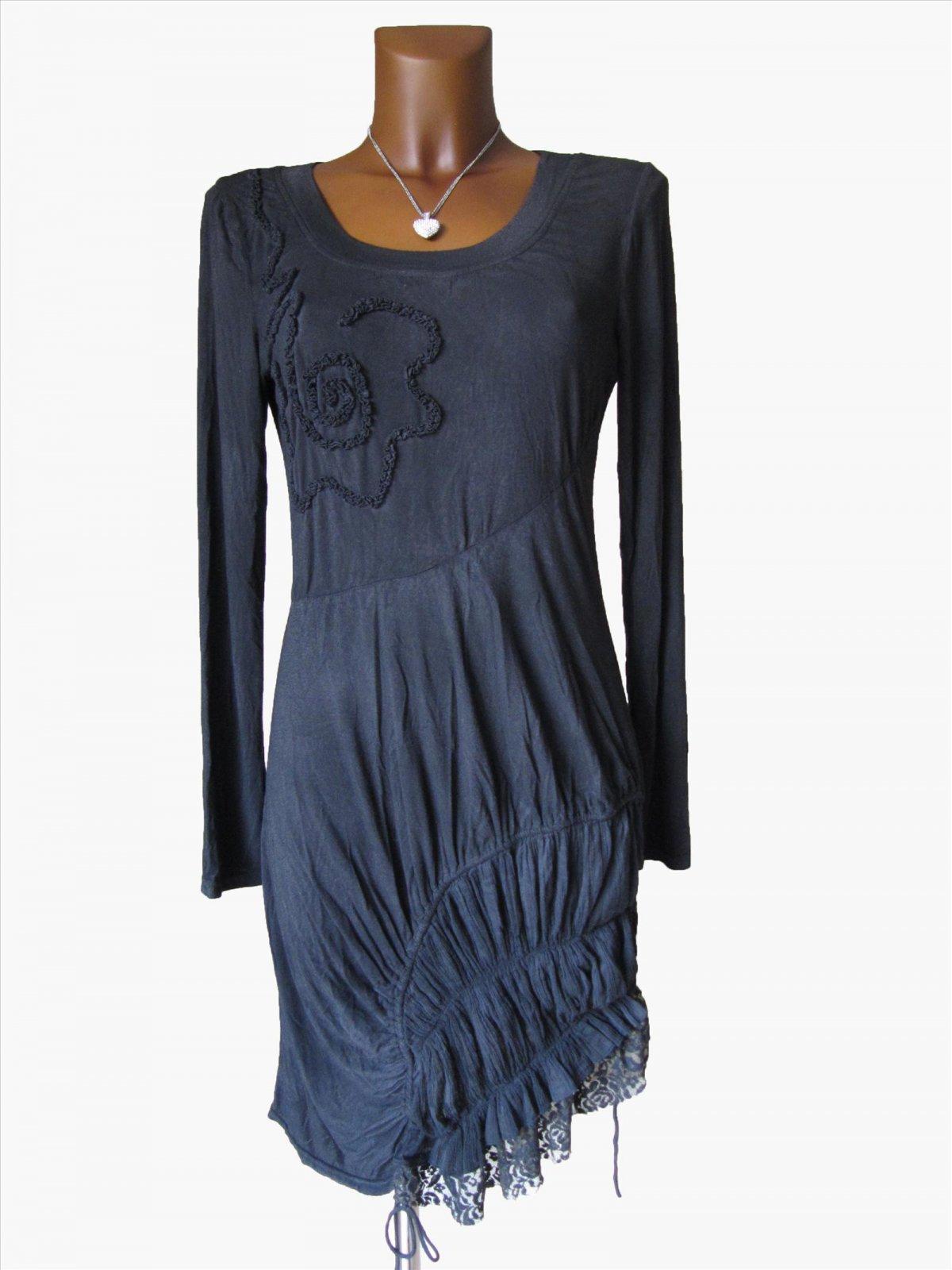 Kleid dunkelbraun langarm