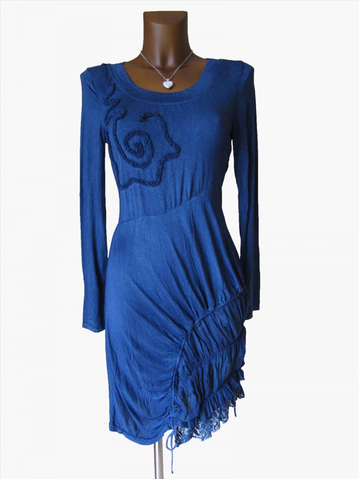 Kleid braun oder blau