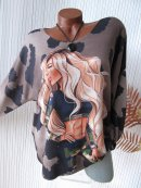 Cooles Feinstrick Shirt Pulli Girl Body Camouflage 36 38...