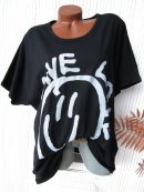 Cooles Oversize Long Shirt GIVE LOVE SMILEY 40 42 44 46...