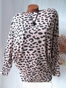 Leo Long Shirt Bluse Tunika Pulli Fledermausärmel 36...