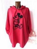 Oversize Sweatkleid Long Sweatshirt Shirt Kapuze COMIC...