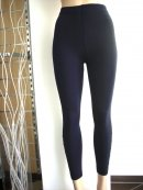 Thermo Leggings Innenfleece Strass Applikationen blau-schwarz 36 38 40 M/L